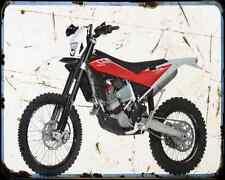 Husqvarna TE 449 10 A4 metal sign moto Vintage Aged
