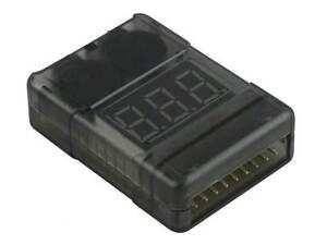 YUKI MODEL 700227 LiPo-Checker • 1-8S im Gehäuse, einstellbar für JST EH/XH