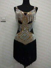 Tassel Latin Dance Dress Clothing Salsa Costume Ballroom Competition Skirt