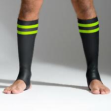 Neoprene Socks Double Neostretch Rubberized Stripes New Neoprene Racer Socks Gay