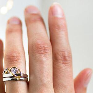 Gorgeous 0.50 Ct Real Diamond Wedding Ring Set 18K Multi Tone Gold Size L M N O