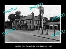 OLD LARGE HISTORIC PHOTO BASILDON ESSEX ENGLAND, VIEW OF THE BULL TAVERN c1940