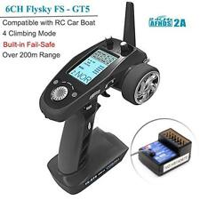 Flysky FS-GT5 6CH AFHDS RC Transmiter with FS-BS6 Receiver for RC Car Auto Boat