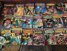 Lot Of 24 Vintage 1970's Marvel DC Comic Books Horror Demon Mummy Frankstein