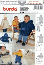 Patron Burda 9903 - Veste  - Nid d'ange - Combinaison bébé