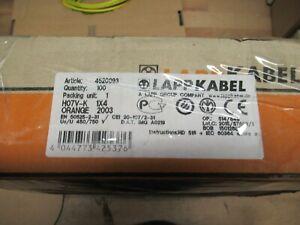 Verdrahtungsleitung H07VK1x4qmm orange