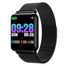 OLED Bluetooth Smartwatch M19 Magnetverschluss Pulsuhr Armband Fitness Sport Uhr