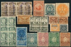 MEXICO, UNCHECKED NICE LOT OF DIFFERENT MINT & USED REVENUES.  #Z157