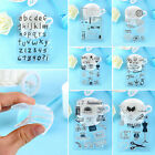 Letter Flower Transparent Clear Silicone Stamps for Cards Album DIY Scrapbooking