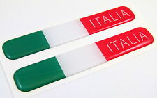 "Italy Italian italia Flag Domed Decal Emblem Resin car stickers 5""x 0.82"" 2pc."
