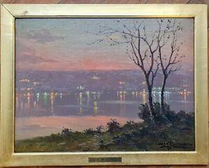 Leon Giuseppe Buono Dipinto quadro Napoli Pozzuoli