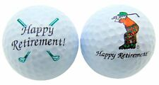 1 Dozen (Happy Retirement Logo) Brand New White Golf Balls Double Sided