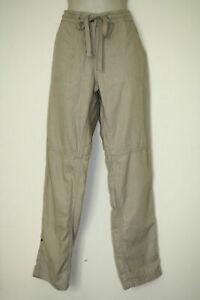 Papaya casual pants size M /10 UK beige linen cotton roll up legs capri option