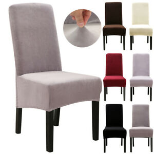 1/2/4/6/8 PCS Velvet Dining Chair Seat Covers Stretch Wedding Banquet Slipcovers