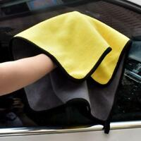 30x40cm Super Soft Absorbent Car WashCoral Velvet Towel Cleaning Drying Cloth;-