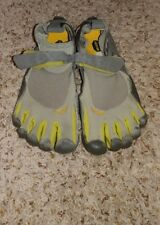 Vibram Fivefingers Bikila Barefoot Running Shoes Grey/Green sz 38 US 7-7.5