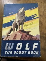 Vintage Wolf Cub Scout Book Boy Scouts of America 1960 Collectible Book BSA