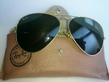 Vintage B&L Ray Ban Aviator gold sunglasses etched lens 62-14 made in the USA