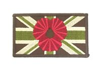 Olive Green Poppy Patch Sew-on &v elcro Forces style Embroidered