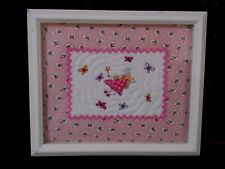LAURA ASHLEY Quilted Fairy of Fun Fairies Framed Art