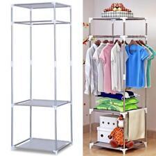 Portable Closet Organizer Storage Rack Clothes Hanger Home Garment Shelf Rod