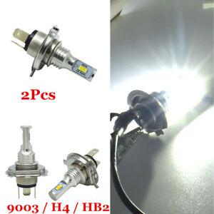 1 Pair 80W 4000LM H4 White 6000K LED Conversion Kit Car Headlight Lamps Bulb