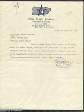 Vintage Letter / Partido Estadista Republicano / Ponce Puerto Rico / 1963