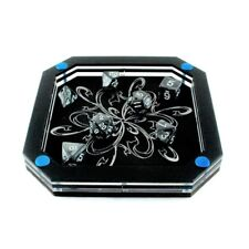 Silver Line Dice Tray - Frost Bloom (Blue) ~ by C4Labs
