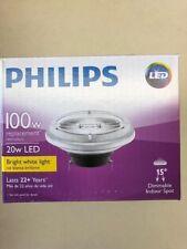 6 Philips 458562 20AR111/LED/830/F15 DIM GX53 15 degree Spot 3000K Dimmable Bulb