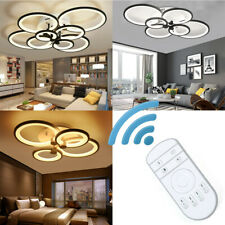 Acrylic Modern LED Chandelier Light For Living Room Bedroom Ceiling Lamp Remote