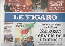 LE FIGARO n°20705 26/02/2011 Révolte en Libye_Remaniement -Sarkozy_Nestlé_Cesars