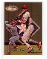 1999 Topps Gold Label #65 Juan Gonzalez Rangers Collectible Baseball Card