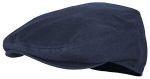 Premium Cotton Newsboy Cap Mens Scally Foldable Solid Color Ivy Flat Cap IV1872