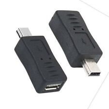Micro USB Female to Mini USB Male Adapter Charger Converter Plug Extender