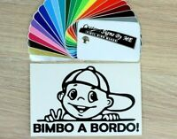 Adesivo Bimbo A Bordo Baby On Board Car Sticker Vinyl Decal Adhesive Windscreen