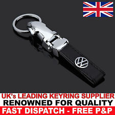 Black Leather Keyring Keychain for VW Volkswagen Golf GTI TDI GT GTD MK4 5 6 7