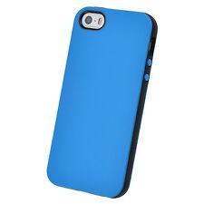 étui tpu iPhone 5 5S SE solidfit Coque purecolor Silicone étui housse bleu