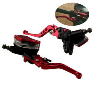 "Master Cylinder Dual Hydraulic Brake & Clutch Adjustable Levers 7/8"" 22mm"