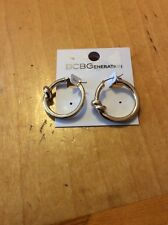 $16 BCBGeneration Gold Knot Hoop Clasp Earrings BCB43