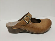 Dansko Pro Clogs, Honey Leather, Womens 40 EU Wide (US 9.5-10)