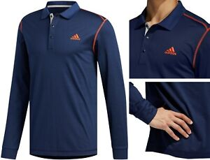Adidas Golf Long Sleeve Thermal Polo Shirt - RRP£80 - Cold Weather - Navy