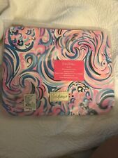 Nwt Gwp Lilly Pulitzer Catche All Pouch Raz Berry Flamingoals