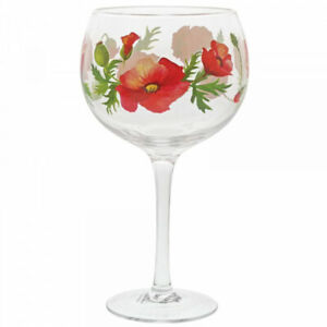 Gin Glass with Poppies by Ginology
