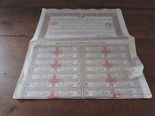 lot de 6 actions de 500 francs société normande de métallurgie 1917