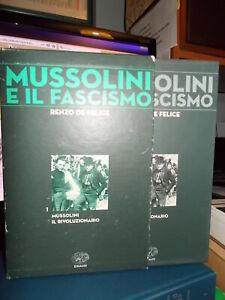 MUSSOLINI E IL FASCISMO VOL.1- Renzo De Felice - RILEGATO CON COFANETTO B/OTTIMO