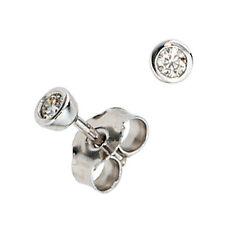 Ohrstecker rund 2 Diamanten Brillanten 0,10ct. 585 Gold Weißgold Ohrringe 37384