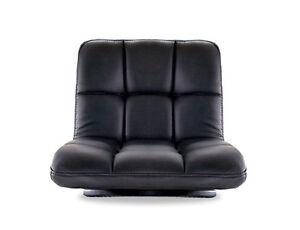 Floor Sitting Swivel Chair Comfortable Leather Cushion Japanese Tatami Zaisu