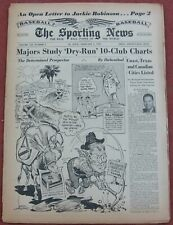 2-2-55 Sporting News  Karl Hubenthal Art of Bill Veeck on Cover