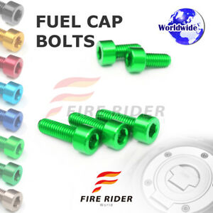 FRW Green Fuel Cap Bolts Set For Kawasaki Z800 13-16 13 14 15 16