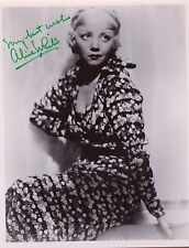 "auth. autographed ""Alice White"" Photo w/coa"